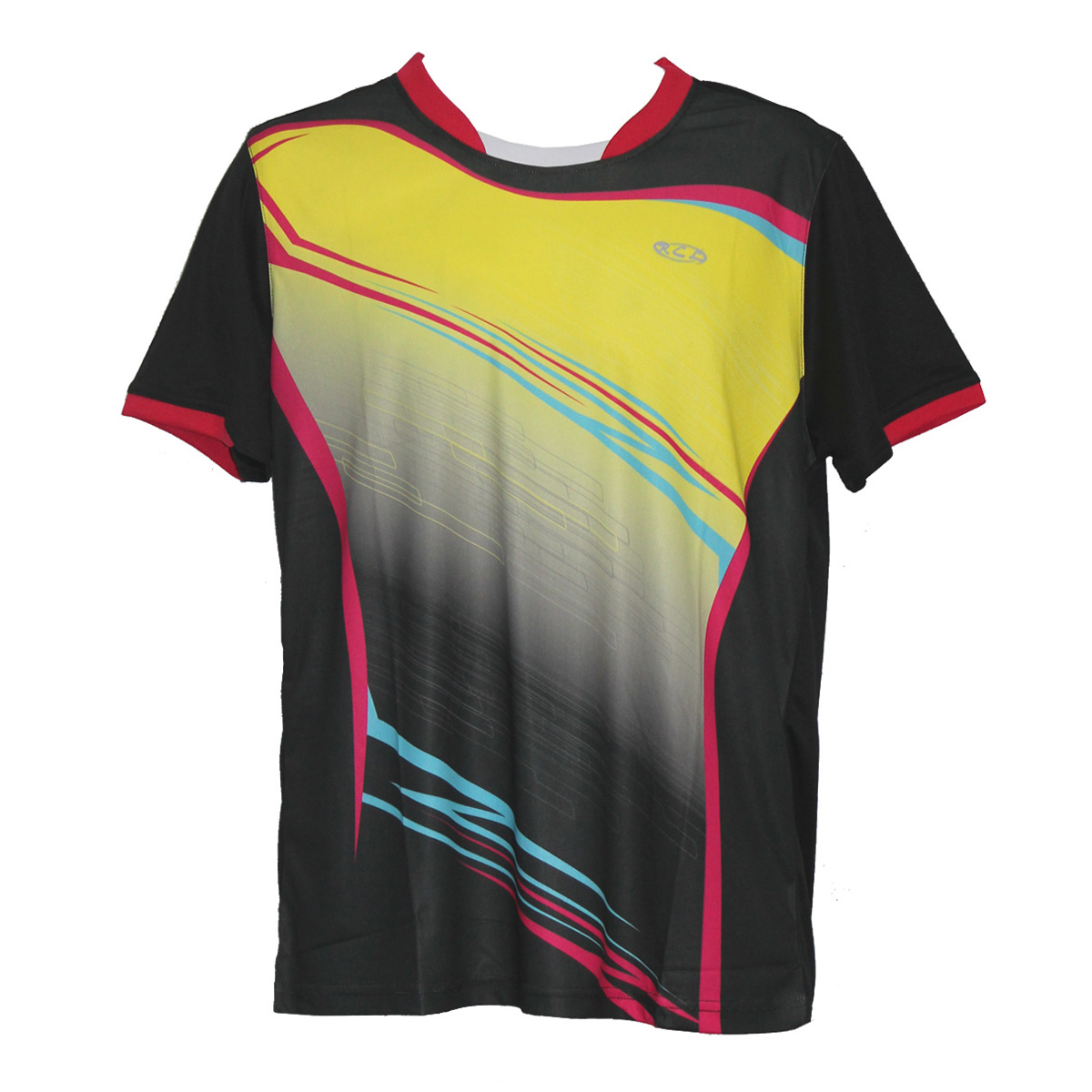 Rcl ts4390 men sports t shirt black blue rcl sport for T shirt supplier wholesale malaysia